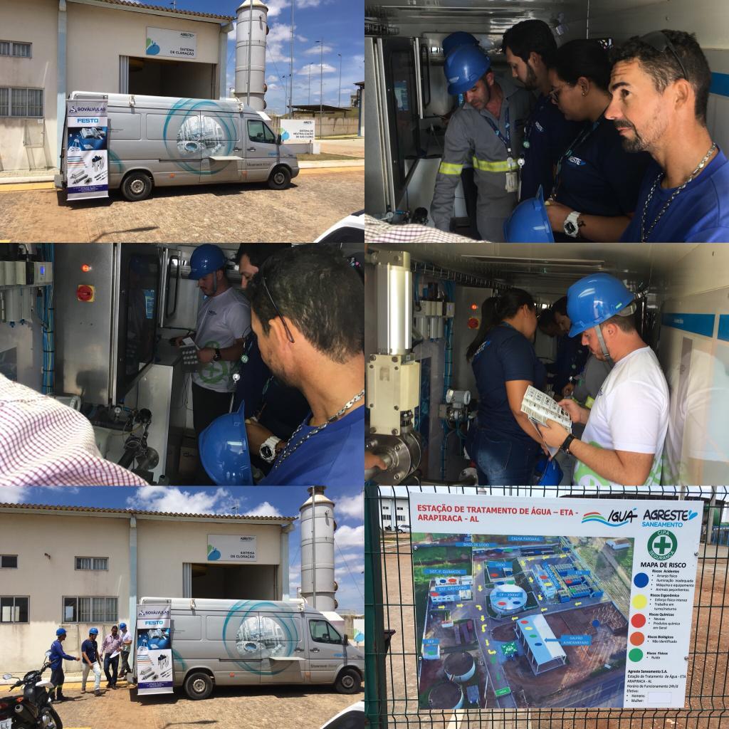 A Sovalvulas em Sergipe e Alagoas levou a seus clientes a Van Institucional de Processo Industrial  FESTO